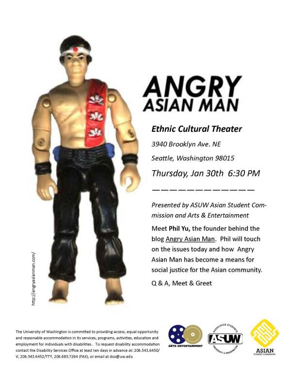 Angry Asian Man Poster